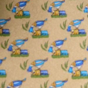Salvatore Ferragamo yellow bird tie